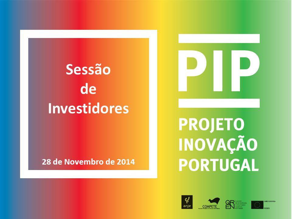 Sessão de Investidores 1.Promotor(es) 2. Proposta de Valor 3.