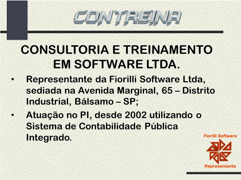 CONSULTORIA E TREINAMENTO EM SOFTWARE LTDA. Representante da Fiorilli Software Ltda, sediada na Avenida Marginal, 65 – Distrito Industrial, Bálsamo –