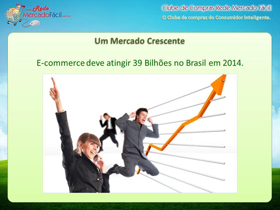 Um Mercado Crescente E-commerce deve atingir 39 Bilhões no Brasil em 2014.