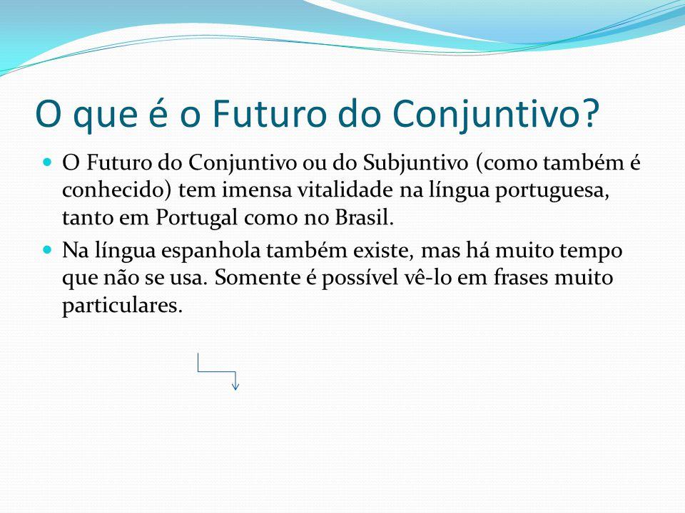 O que é o Futuro do Conjuntivo.