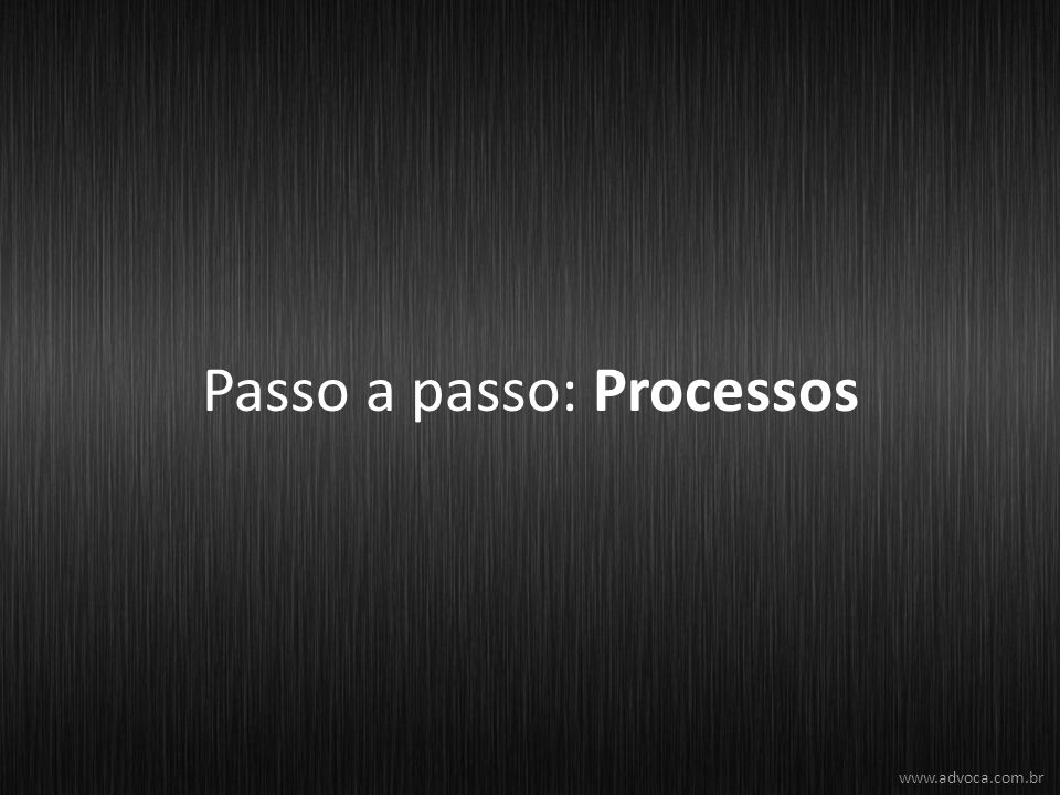 Passo a passo: Processos www.advoca.com.br