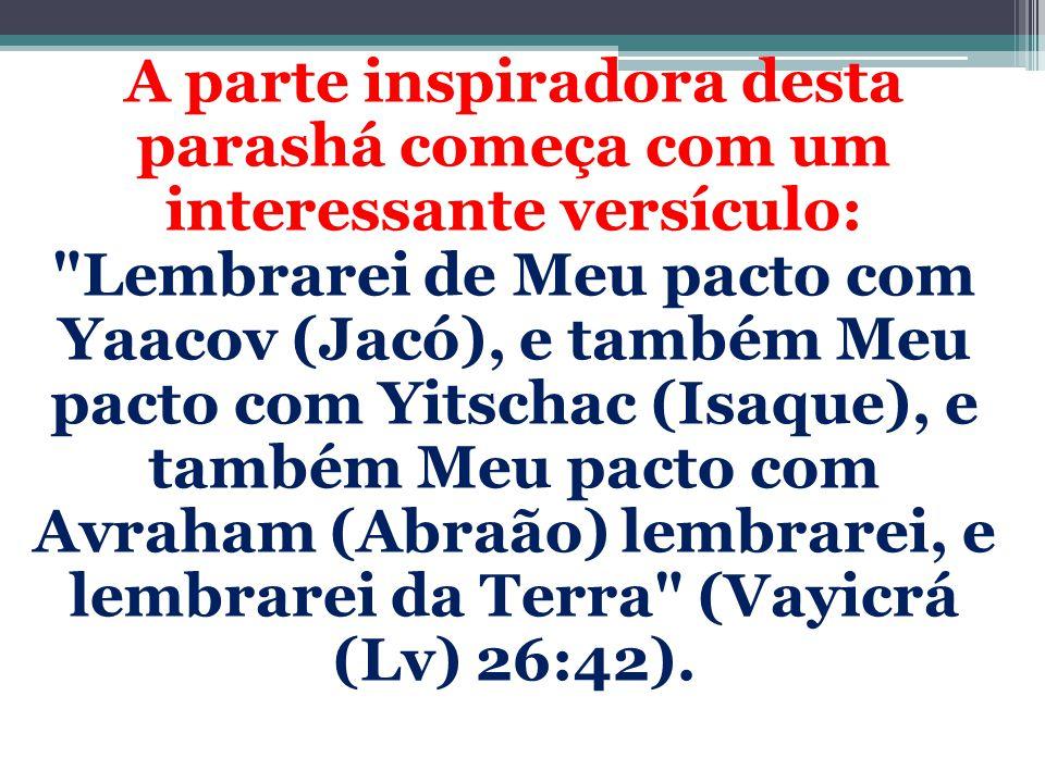 A parte inspiradora desta parashá começa com um interessante versículo: