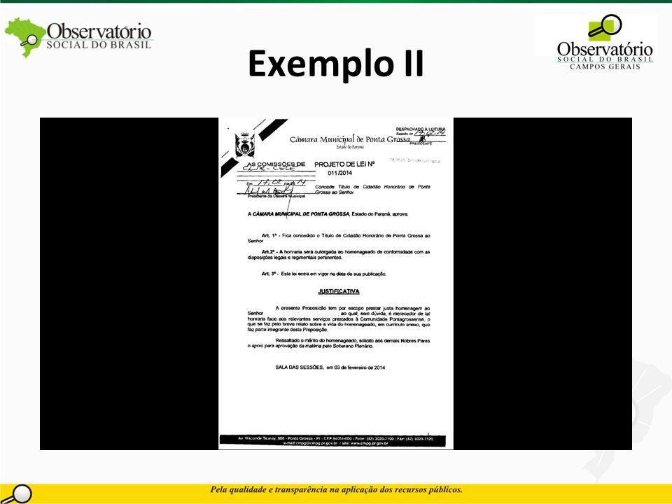 Exemplo II