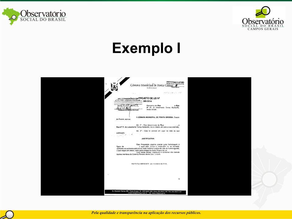 Exemplo I