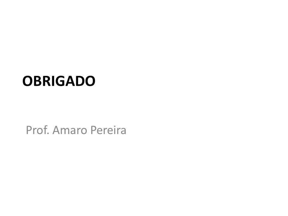 OBRIGADO Prof. Amaro Pereira