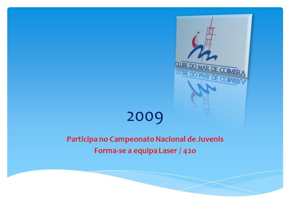 2009 Participa no Campeonato Nacional de Juvenis Forma-se a equipa Laser / 42o