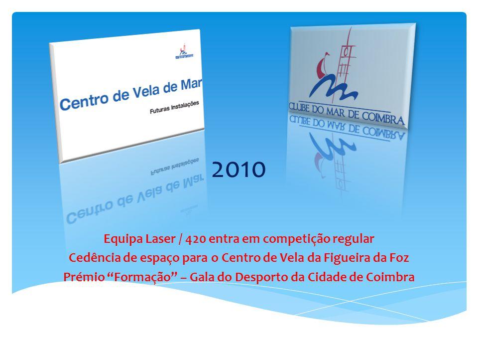 Equipa Laser / 420 entra em competição regular Cedência de espaço para o Centro de Vela da Figueira da Foz Prémio Formação – Gala do Desporto da Cidade de Coimbra 2010