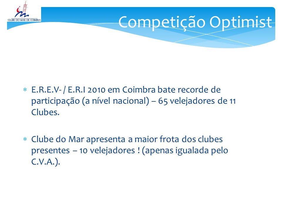 E.R.E.V- / E.R.I 2010 em Coimbra bate recorde de participação (a nível nacional) – 65 velejadores de 11 Clubes.