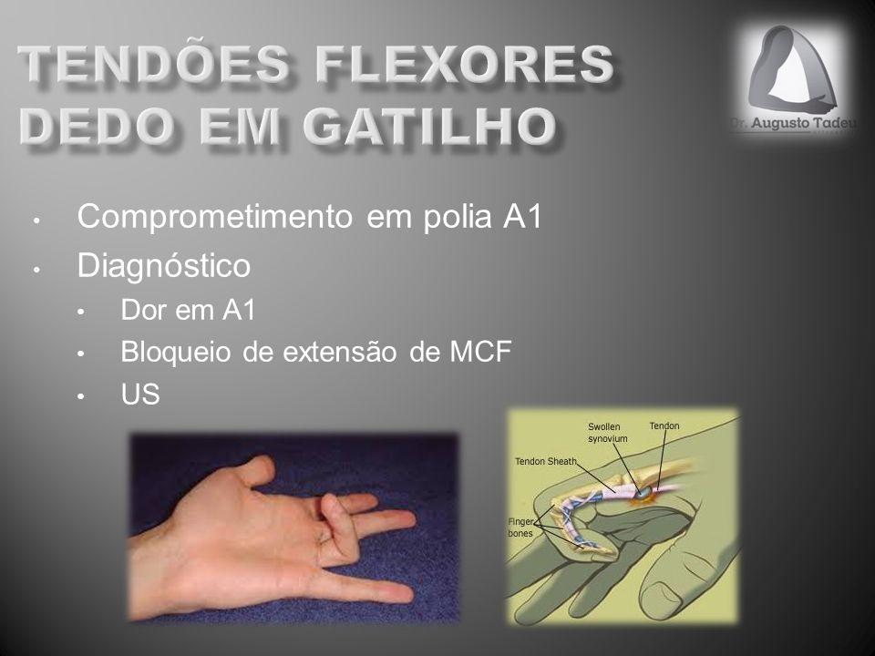 Comprometimento em polia A1 Diagnóstico Dor em A1 Bloqueio de extensão de MCF US