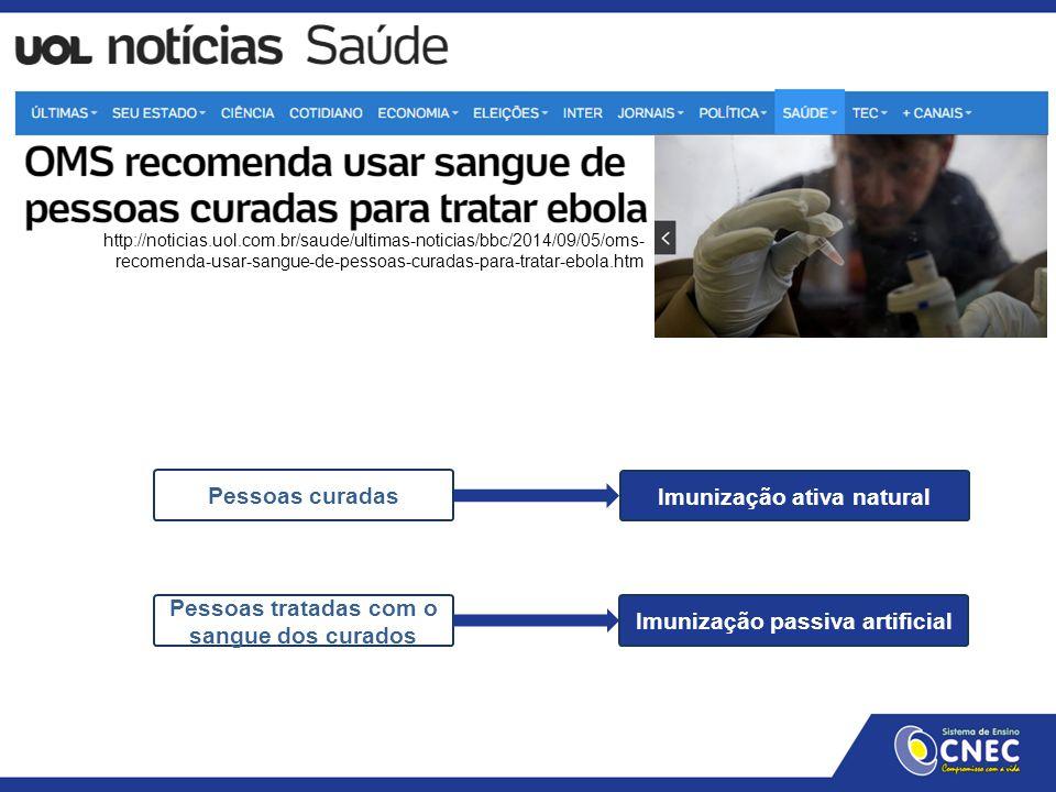 http://noticias.uol.com.br/saude/ultimas-noticias/bbc/2014/09/05/oms- recomenda-usar-sangue-de-pessoas-curadas-para-tratar-ebola.htm Pessoas curadas P