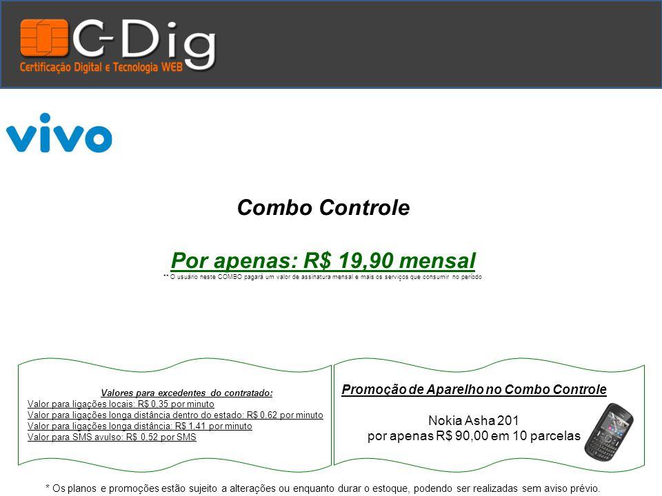 Repasse para ACE por linha mensal neste COMBO R$ 5,00 * Os planos e promoções estão sujeito a alterações ou enquanto durar o estoque, podendo ser realizadas sem aviso prévio.