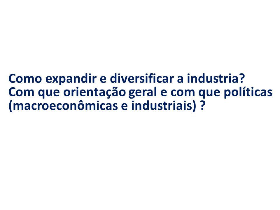 Como expandir e diversificar a industria.