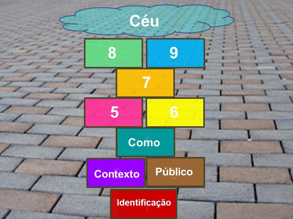 1 23 4 56 7 89 Céu Identificação Contexto Público Como