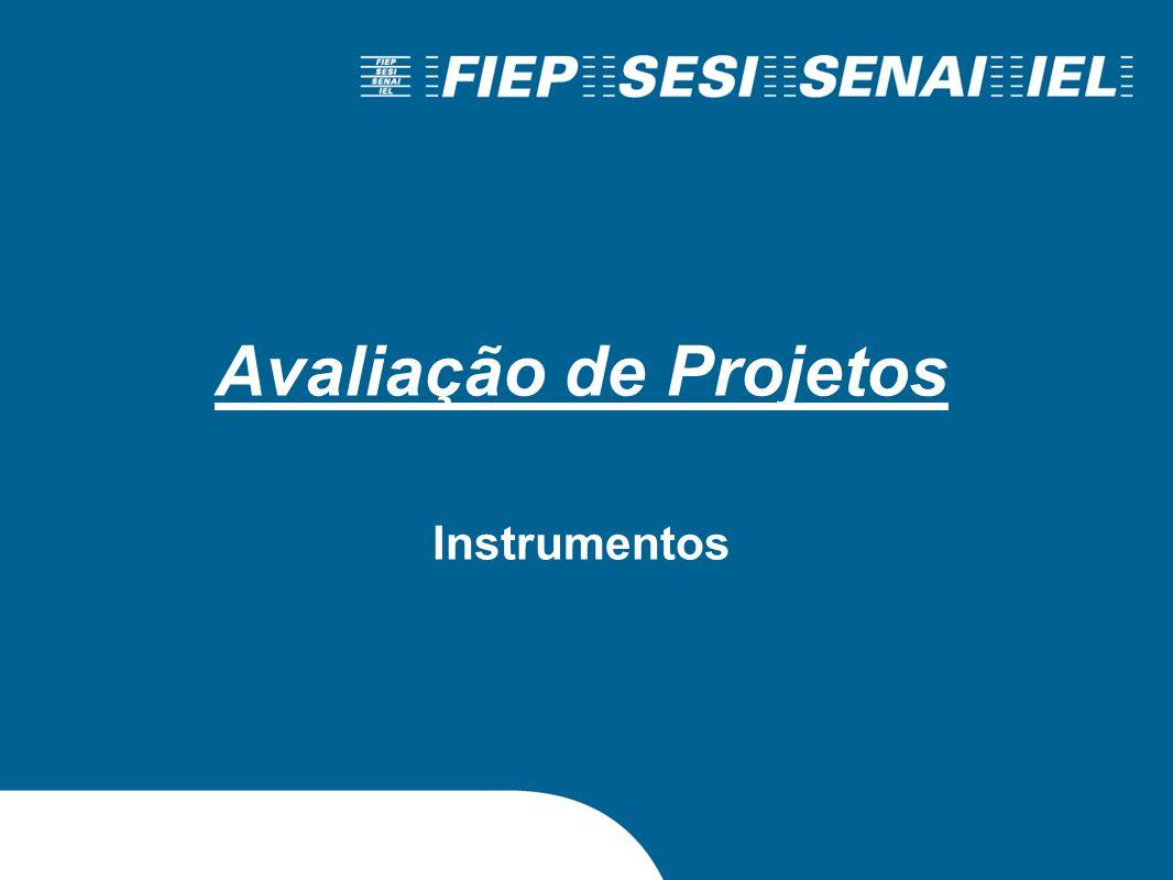 Avaliação de Projetos Instrumentos