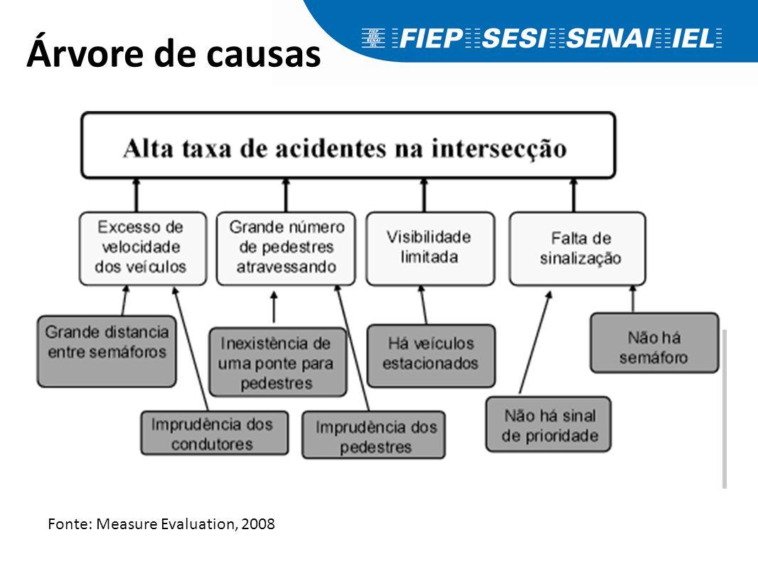 Árvore de causas Fonte: Measure Evaluation, 2008