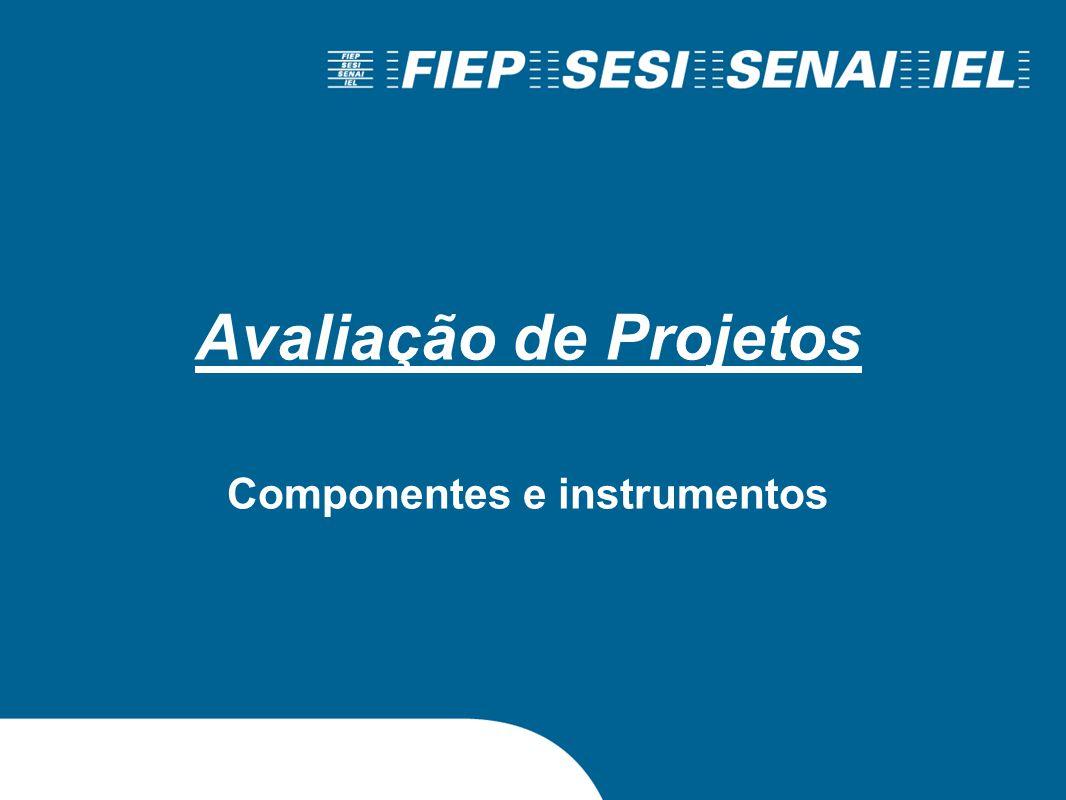 Avaliação de Projetos Componentes e instrumentos