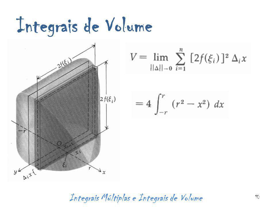 Integrais de Volume Integrais Múltiplas e Integrais de Volume 10
