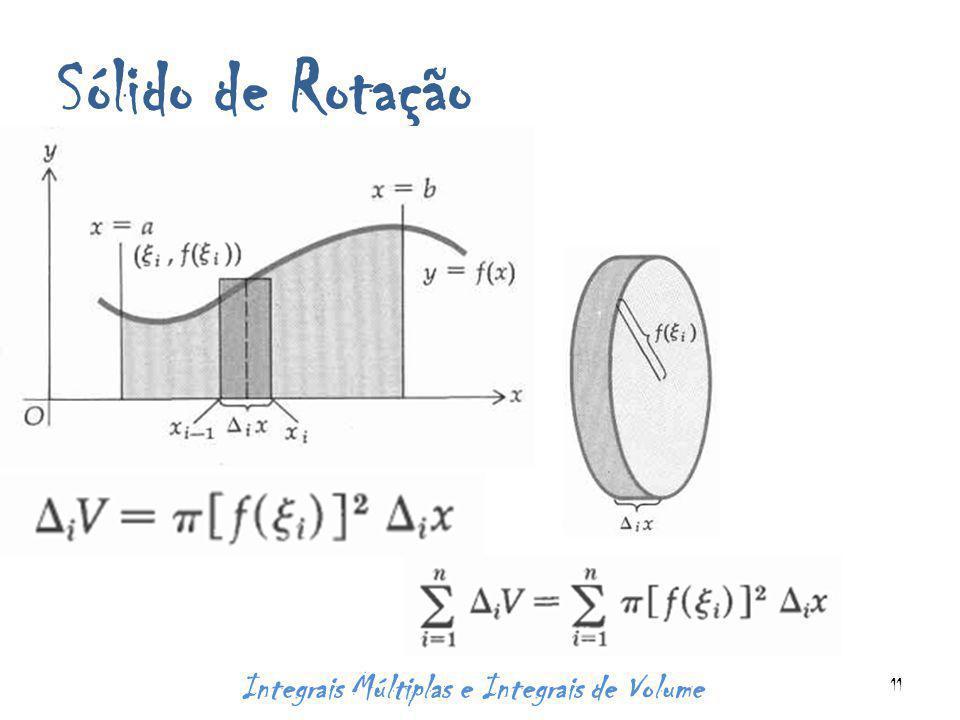Sólido de Rotação Integrais Múltiplas e Integrais de Volume 11