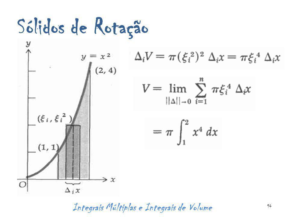 Sólidos de Rotação Integrais Múltiplas e Integrais de Volume 14