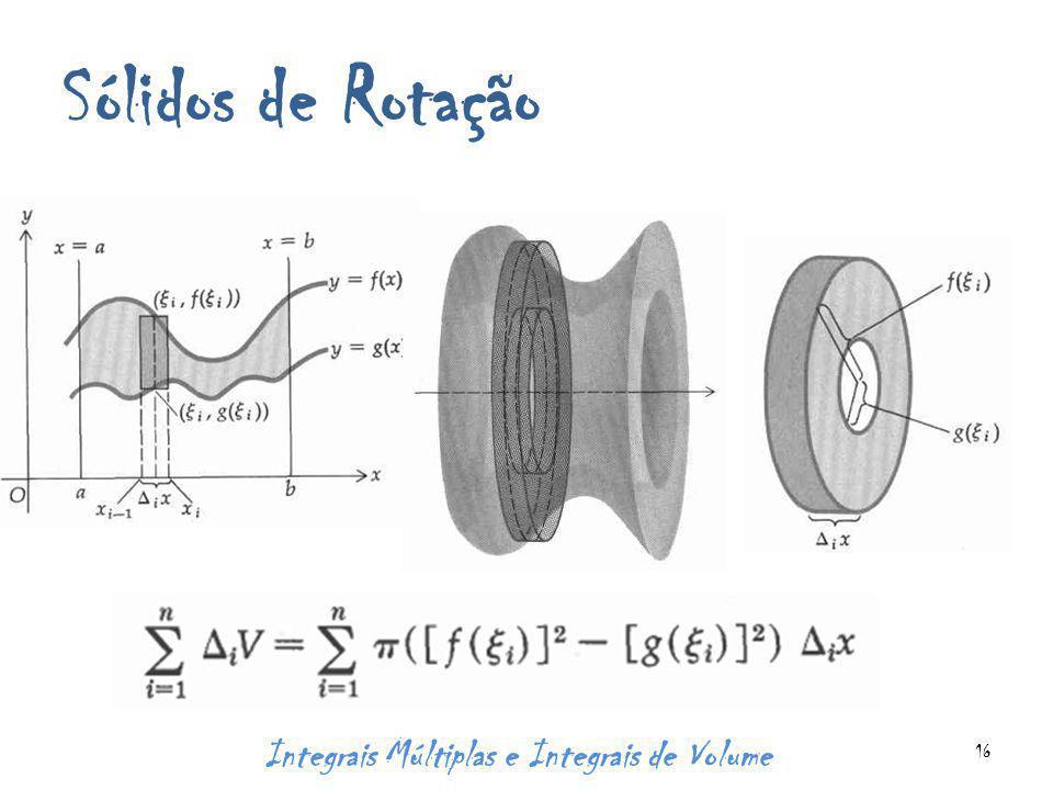 Sólidos de Rotação Integrais Múltiplas e Integrais de Volume 16