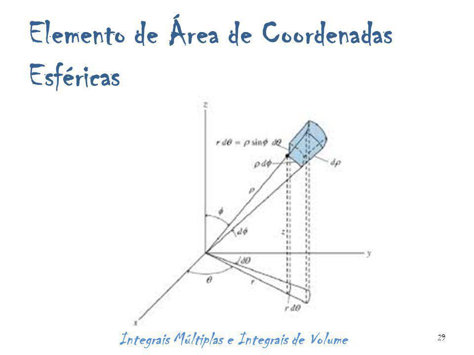 Elemento de Área de Coordenadas Esféricas Integrais Múltiplas e Integrais de Volume 29