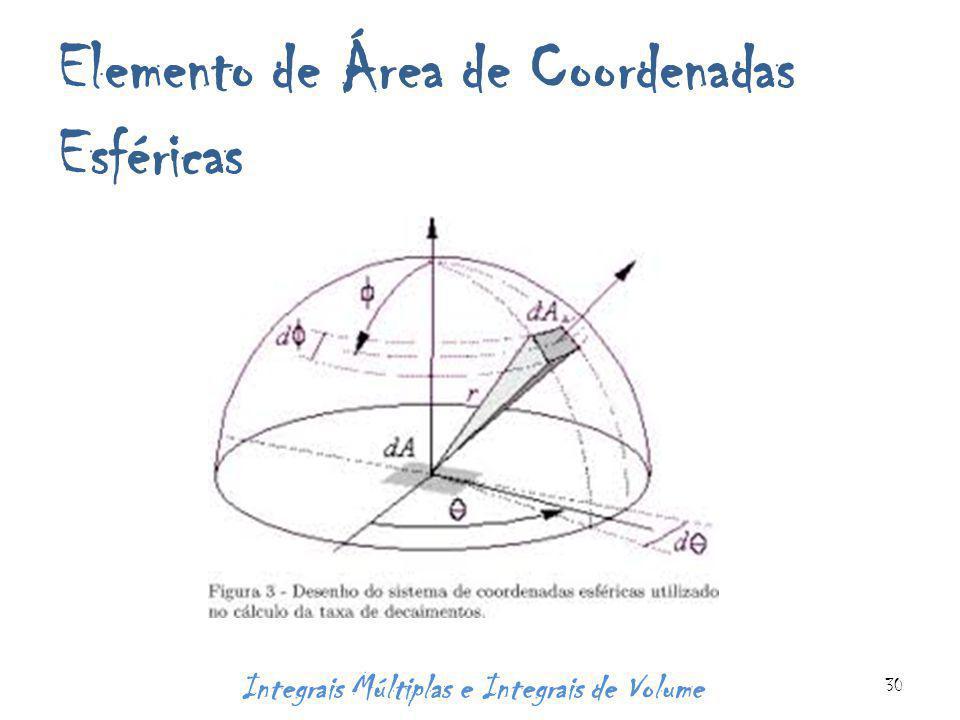Elemento de Área de Coordenadas Esféricas Integrais Múltiplas e Integrais de Volume 30