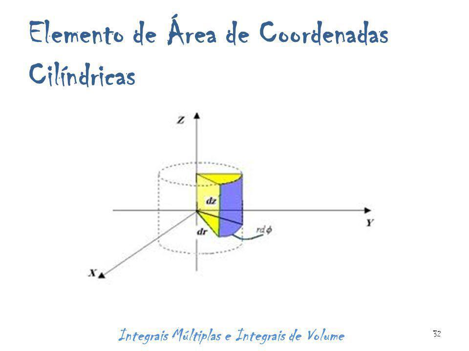 Elemento de Área de Coordenadas Cilíndricas Integrais Múltiplas e Integrais de Volume 32