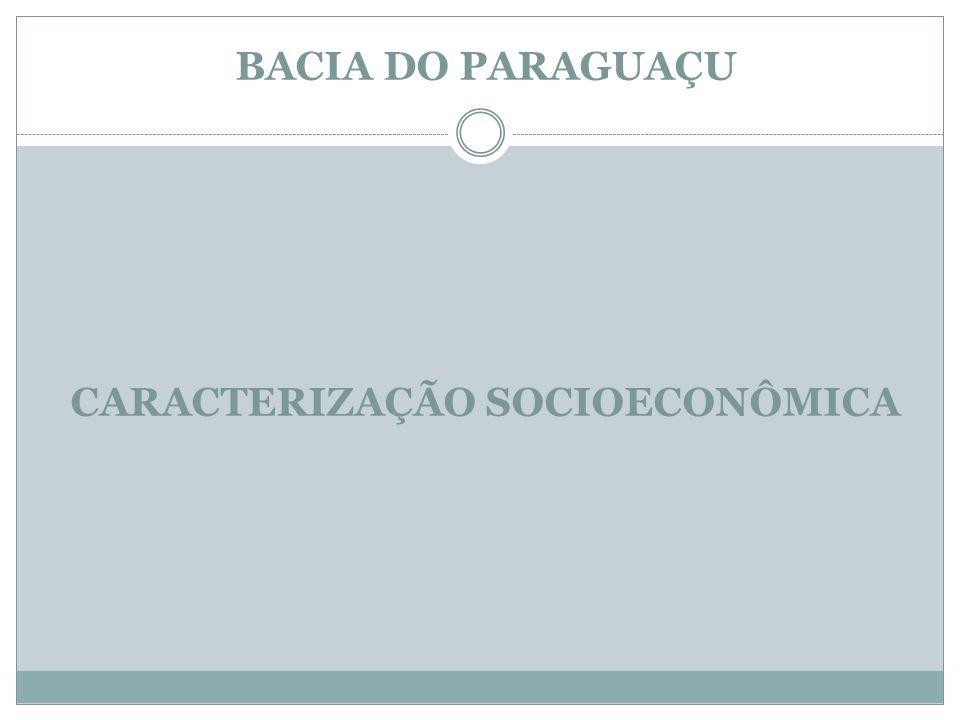 BACIA DO PARAGUAÇU CARACTERIZAÇÃO SOCIOECONÔMICA