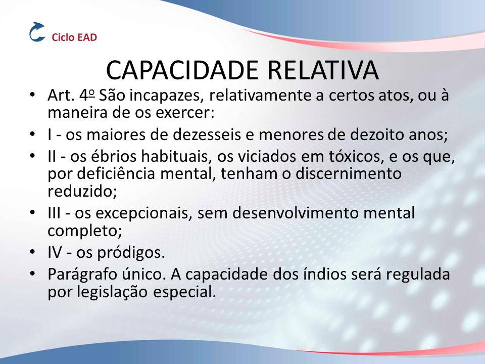 CAPACIDADE RELATIVA Art.