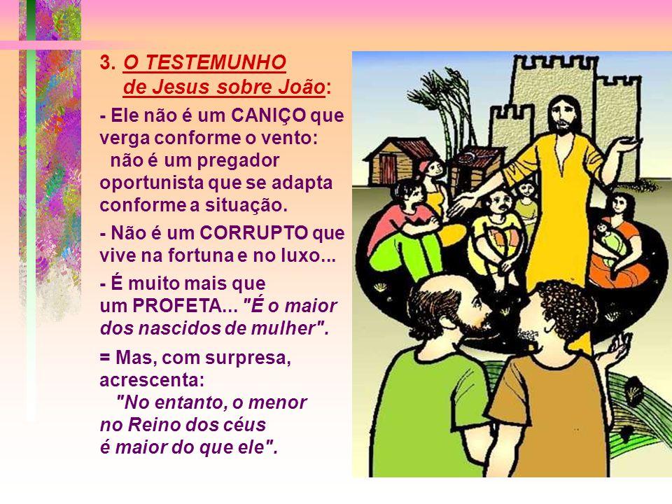 2. A RESPOSTA de Jesus: Jesus responde apontando seis sinais concretos de libertação, já anunciados por Isaías há muito tempo:
