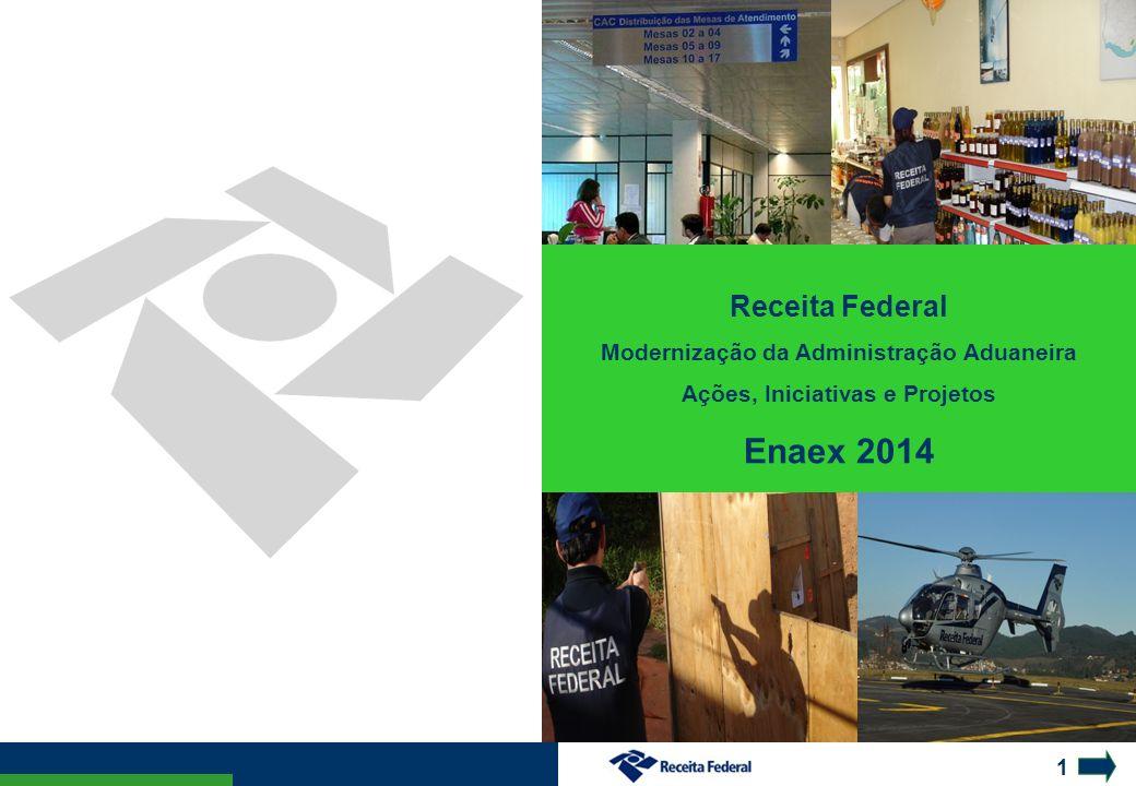 1 Receita Federal Modernização da Administração Aduaneira Ações, Iniciativas e Projetos Enaex 2014