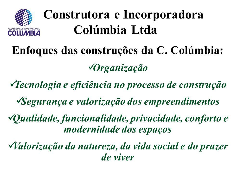 Construtora e Incorporadora Colúmbia Ltda Evolução das obras físicas (20/08/2012):