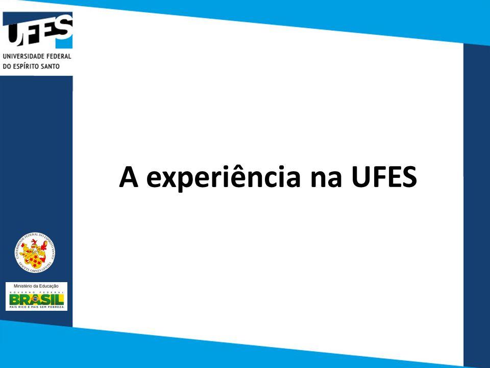 A experiência na UFES