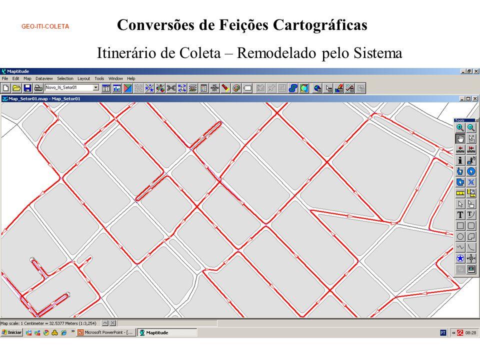 Conversões de Feições Cartográficas GEO-ITI-COLETA Itinerário de Coleta – Remodelado pelo Sistema