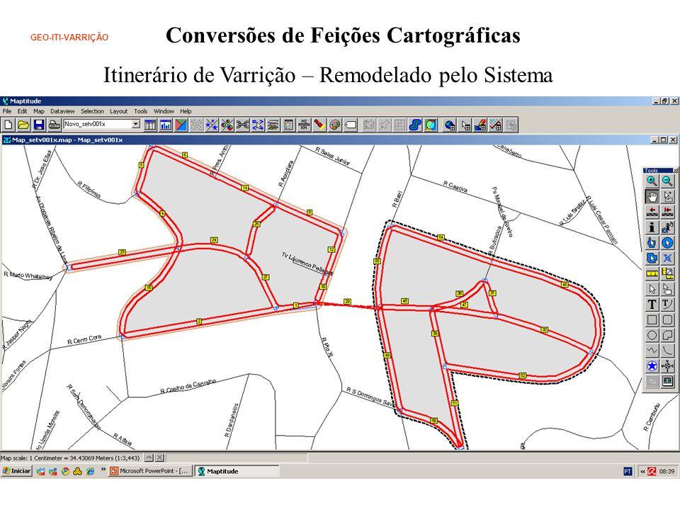 GEO-ITI-VARRIÇÃO Conversões de Feições Cartográficas Itinerário de Varrição – Remodelado pelo Sistema