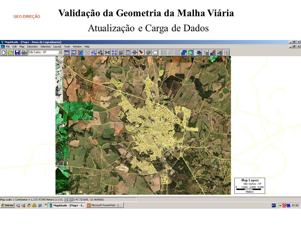 Validação da Geometria da Malha Viária GEO-DIREÇÃO Atualização e Carga de Dados