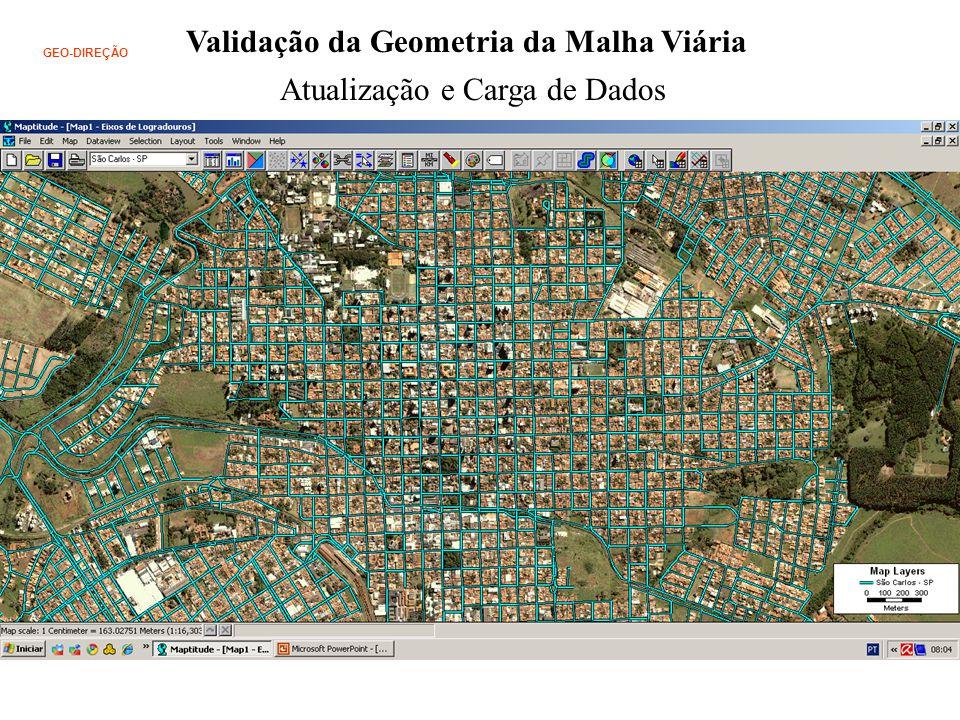GEO-DIREÇÃO Validação da Geometria da Malha Viária Atualização e Carga de Dados