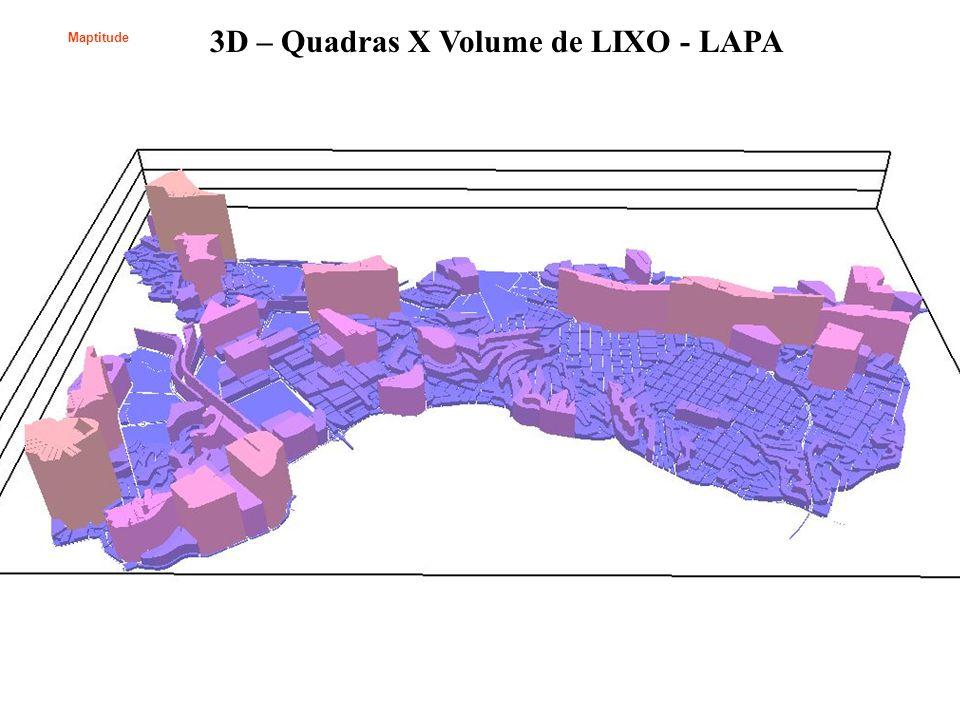 3D – Quadras X Volume de LIXO - LAPA