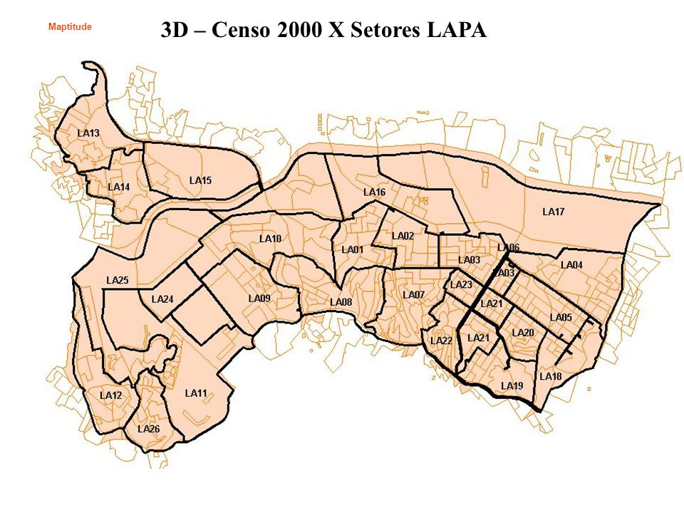 3D – Censo 2000 X Setores LAPA Maptitude
