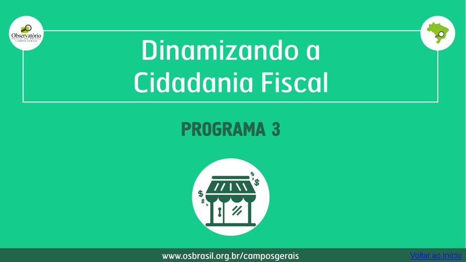 Dinamizando a cidadania fiscal Programa 3 Voltar ao início