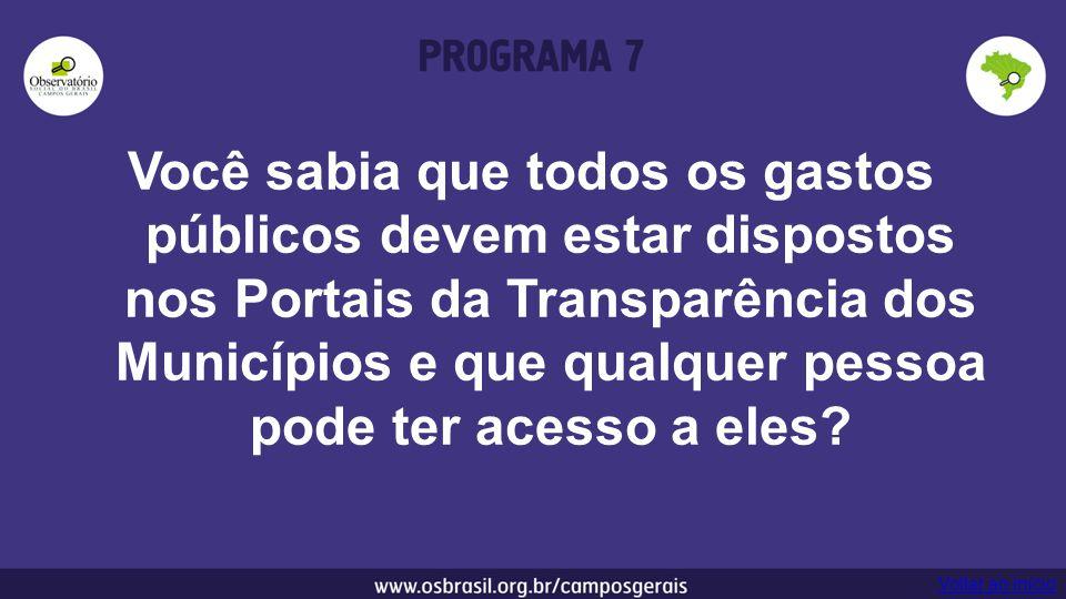 Você sabia que todos os gastos públicos devem estar dispostos nos Portais da Transparência dos Municípios e que qualquer pessoa pode ter acesso a eles.