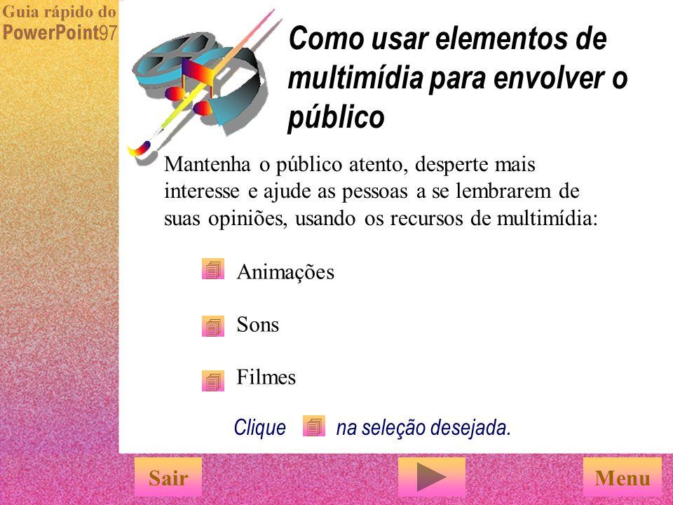 u Digite as informações nas caixas u Para ver o gráfico em seu slide, clique em 'Atualizar arquivo' SairConcluir