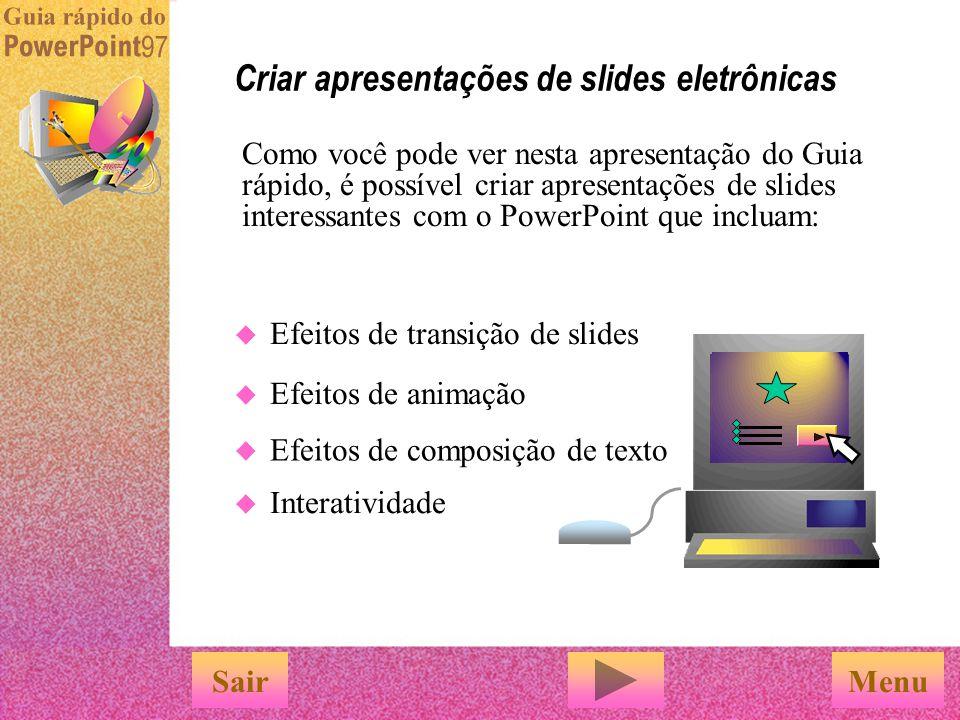 Você pode imprimir slides, folhetos para o público, anotações e estruturas de tópicos usando o comando 'Imprimir'. Você pode criar transparências em p