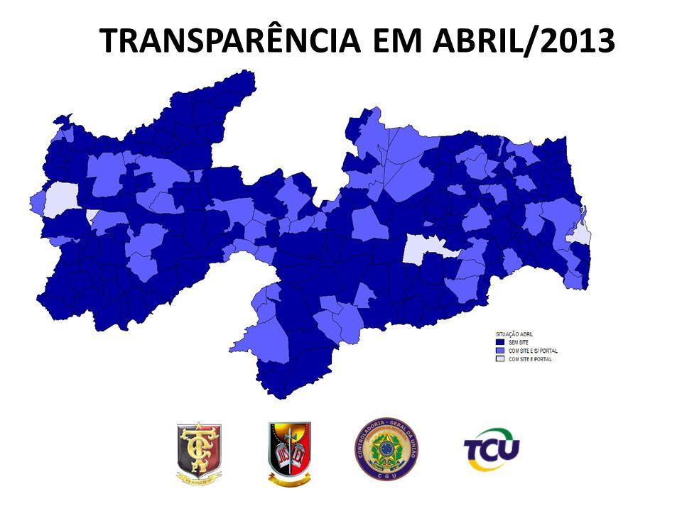 TRANSPARÊNCIA EM ABRIL/2013