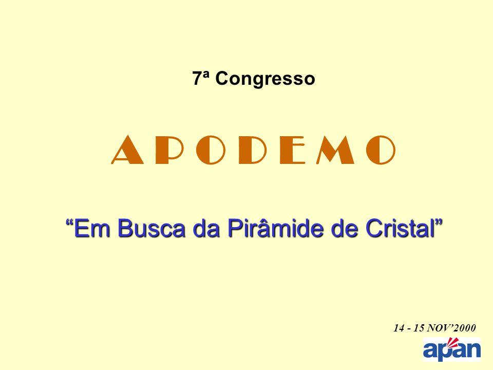 """7ª Congresso A P O D E M O """"Em Busca da Pirâmide de Cristal"""" 14 - 15 NOV'2000"""
