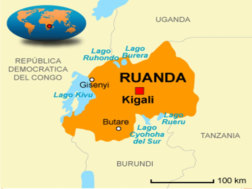 R UANDA É localizado no centro-leste da África, da região dos grandes lagos.