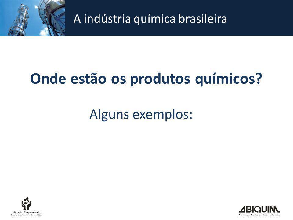 Onde estão os produtos químicos? Alguns exemplos: A indústria química brasileira