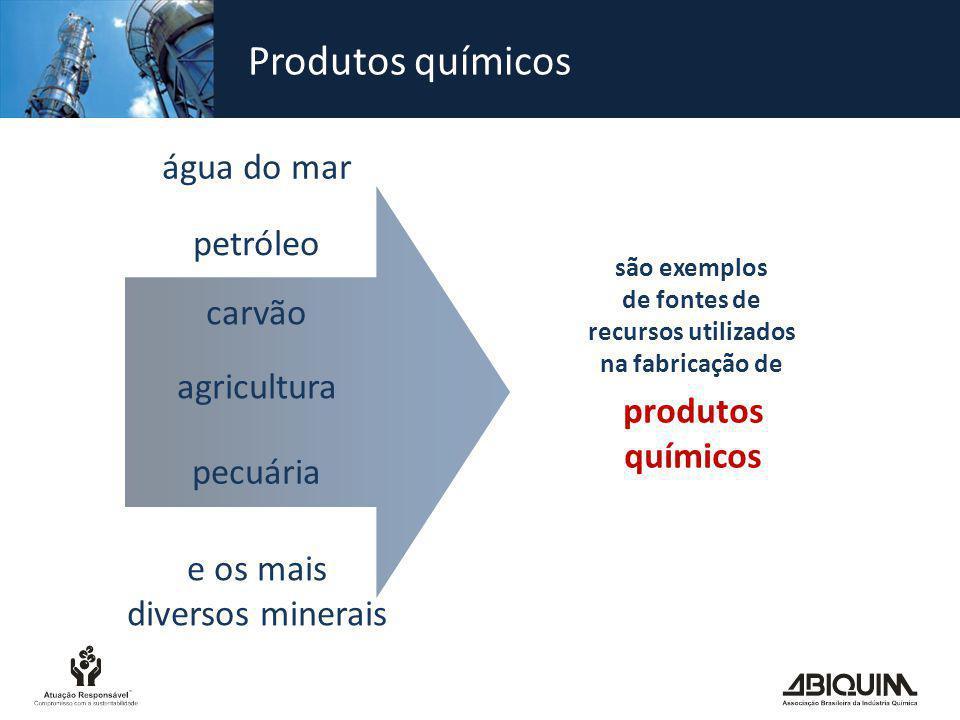Produtos químicos produtos químicos são exemplos de fontes de recursos utilizados na fabricação de água do mar petróleo carvão e os mais diversos mine