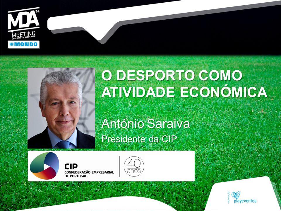 O DESPORTO COMO ATIVIDADE ECONÓMICA António Saraiva Presidente da CIP