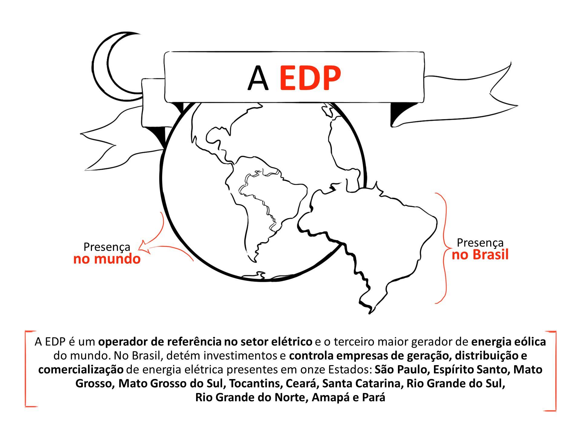5ª edição A EDP A EDP é um operador de referência no setor elétrico e o terceiro maior gerador de energia eólica do mundo.